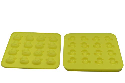 Duck Candy - 2-Pack Mini Size Rubber Duck Silicone Mold for Chocolate, Candy, Gummy, Jello, Ice Cube, Polymer Clay, Crayon Melt,Biscuits