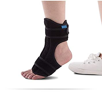 Amazon com: 1pc Foot Drop Support Ankle Orthosis Braces Strap Wrap