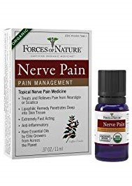 Forces of Nature Nerve Pain Management (Pack of 2) with Coffea, St. John's Wort, Silica, Lavender Oil, Roman Chamomile Oil, German Chamomile Oil and Sesame Oil, 11 ml. Each
