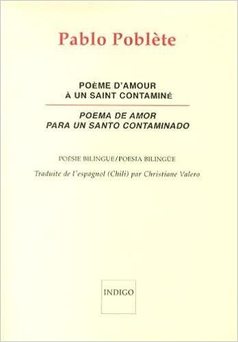 Poème Damour A Un Saint Contamine Poema De Amor Para Un