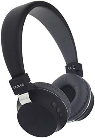 Denver BTH-205 Diadema Negro Auricular con micrófono - Auriculares con micrófono (Media/Comunicación, 5-35 °C, Diadema, Negro, Inalámbrico, 10 m)