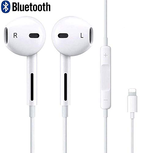 Earbuds, Microphone Earphones Stereo Headphones Noise Isolating Headset Compatible with iPhone Xs/XS Max/XR/X/8/8 Plus/7/7 Plus Earphones