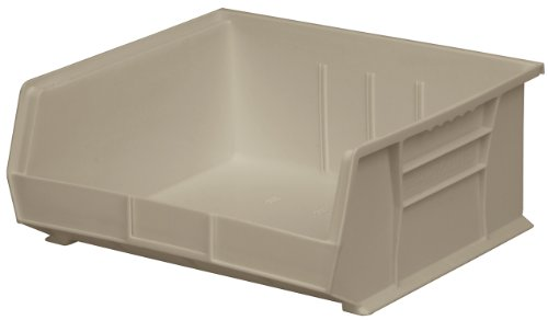 Akro-Mils 30235 Plastic Storage Stacking Hanging Akro Bin, 11-Inch by 11-Inch by 5-Inch, Stone, Case of 6
