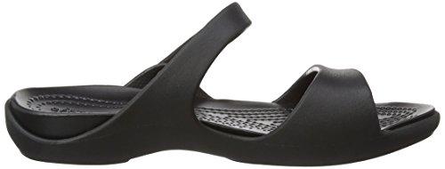 black V Cleo Femme Ouvert Women Crocs Bout black Sandales Noir 7zqnxx1
