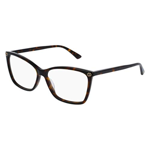 Gucci GG0025O Optical Frame 002 Avana Avana 56 ()