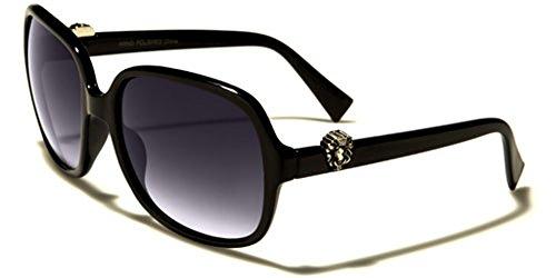 Kleo Womens Round Retro Animal Print Frame Fashion Sunglasses