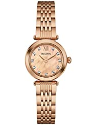 Bulova Womens 97P116 Stainless Steel and Gold Dress Watch