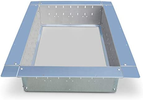Rectangle fire pit ring insert