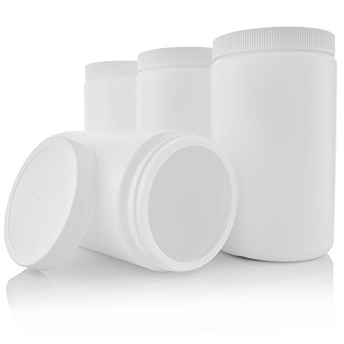 Plastic Containers with Screw on Lids 32 oz Quart Hot Or Col