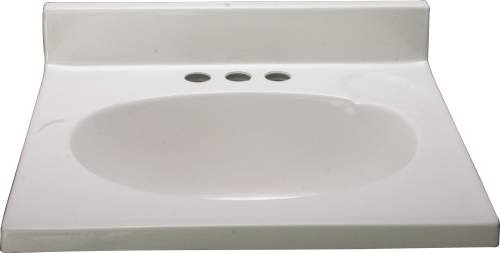 Premier 112011 Bathroom Vanity Top, Cultured Marble, Whit...