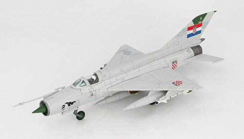 MIG-21 BIS Fishbed 1st Fighter Squadron, Croatian Air Force, 1993 1/72 Scale HA0193