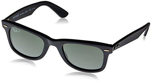 Ray-Ban RB2140 Wayfarer Sunglasses, Black/Polarized Green 1, 50 mm ()
