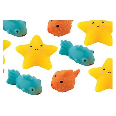 Curious Minds Busy Bags 12 Sea Creature Small Mochi Squishy Animals - Kawaii - Sensory, Stress, Fidget Party Favor Squeeze Fidget Toy ADHD Special Needs Soothing: Toys & Games