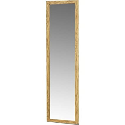 Amazon.com: Rectangle Over The Door Full Length Mirror with Wood ...