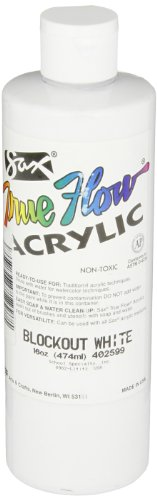Sax 402599 True Flow Heavy Body Acrylic Paint, 1 Pint, Blockout White