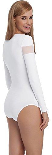 Merry Style Body Manga Larga para Mujer BD108 Blanco