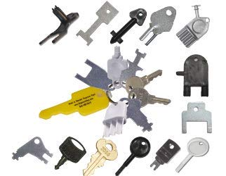 Georgia Pacific, Kimberly Clark, and Other Popular Miscellaneous Keys. by Master Dispenser Key Ring Set