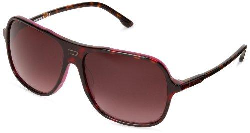 Diesel Plastic Sunglasses - Diesel DL00146056Z Aviator Sunglasses,Havana,60 mm