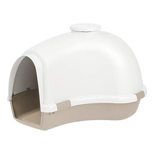 IRIS IDH-L Large Igloo Shaped Dog House, White/Almond