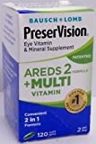 PreserVision AREDS 2 + Multivitamin, 2 in 1 Formula 120 softgels (BONUS SIZE) For Sale
