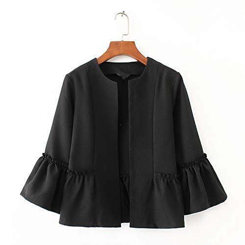 Unita Donna E Con Cappotti Black A Casual Top Da Capispalla Giacche Tinta BBn6wrqHx