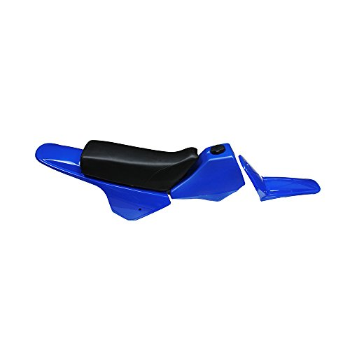 (JFG RACING Fairing Plastic Gas Tank Kit Rear Fender - Yamaha PW80 PW 80 - Blue)