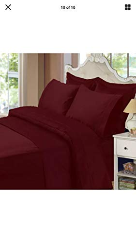 Members Mark 450 Thread Count 4 Piece Full Sheet Set red 100% Cotton ()