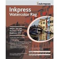 Inkpress Watercolor Linen, Texture Matte Archival Cotton Rag Inkjet Paper, 15mil., 250gsm, 24