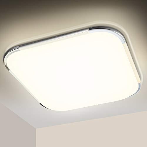 Hengda LED Deckenleuchte 12W, 4000K Neutralweiß, 1020LM LED Deckenlampe, Badezimmer Lampe, IP44 Wasserdicht Badleuchte, für Schlafzimmer Küche Balkon Bad Flur Keller, Wandlampe, Balkonlicht