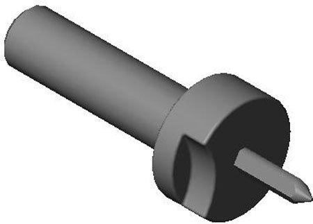 .7480 dia. (A), 3/4 dia. (B), Relieved, Slip Fit - Lock Screw Type, Locating Pin (1 Each)