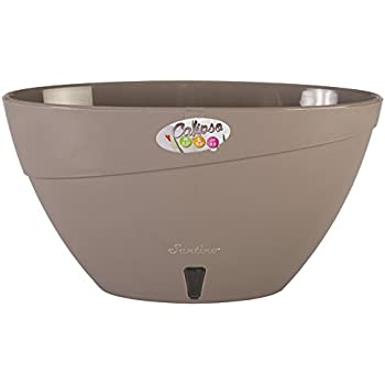 Santino Self Watering Planter CALIPSO Oval Shape L 13.5 Inch x H 5.1 Inch Shade/Shade Flower Pot