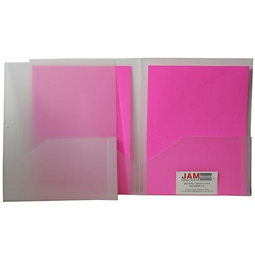 Clear Heavy Duty Plastic 2 Pocket Presentation Folder (9x12) - 108 folders per box by JAM Paper