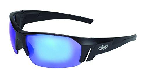 400 Series Matte - Global Vision Eyewear Chainsaw Series Semi-Rimless Matte Black Frames & Grey G-Tech Blue Lenses