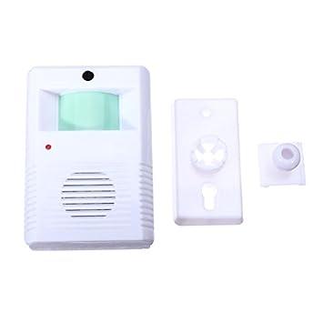 Chime Bienvenido Alarma timbre de la puerta del sensor de movimiento inalámbrico.