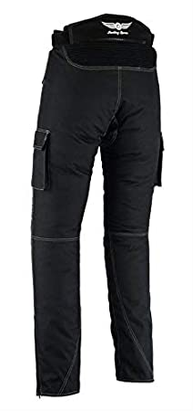Cameo Green, 36Wx32L Sterling Sports/®Men Textile Waterproof Motorbike Motorcycle Thermal Armoured Trouser Cargo Pant Black Cameo Grey Green