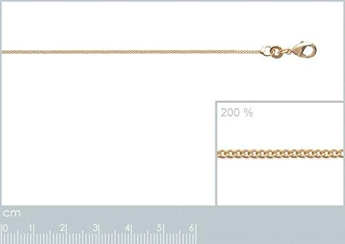 ISADY - Diamane Gold 1,1 - Chaîne Diamantée - Plaqué Or 750/000 (18 carats) - Longueur 40 cm - Largeur 1,1