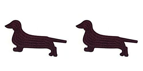 Dog Breeds Dachshund Cosplay Badge Embroidered Iron or Sewn-On Applique Patch 2-Pack Gift Set ()
