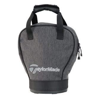 (TaylorMade Golf 2018 Mens Classic Practice Ball Bag/Shag Bag Holder Grey/Black)