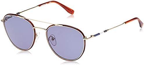 Amazon Com Lacoste Men S L102snd Oval Sunglasses Gold 51 Mm Clothing
