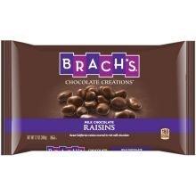 Brachs Milk Chocolate Covered Raisins, 12 Ounce - 12 per case.