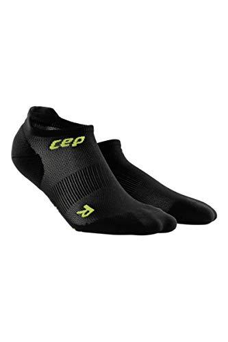 CEP Womens No Show Compression  Ultralight Running (Black/Green) II