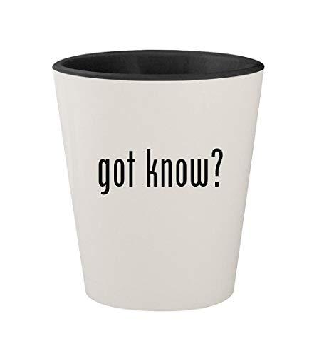 got know? - Ceramic White Outer & Black Inner 1.5oz Shot Glass