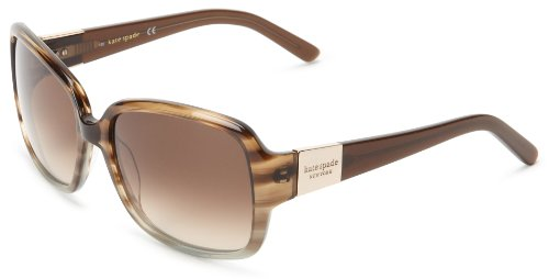 Kate Spade Lulus Rectangular Sunglasses,Brown Gray,55 - Amazon Kate Sunglasses Spade