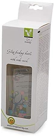 Biberón, biberón de vidrio B0468 240 ml tetina de silicona anticólico desde el nacimiento