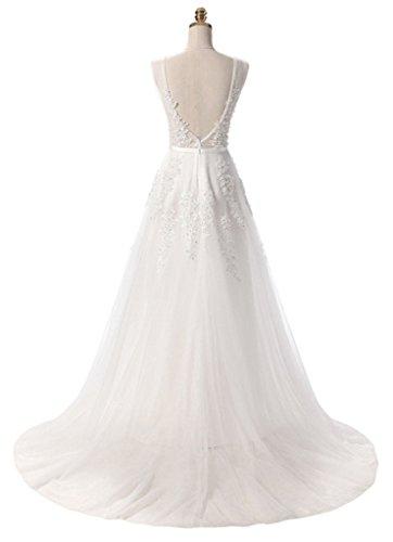 Eudolah - Vestido - trapecio - para mujer Weiß