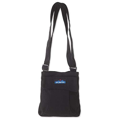 KAVU Mini Keeper Bag with Hip Crossbody Adjustable Purse Strap - Black