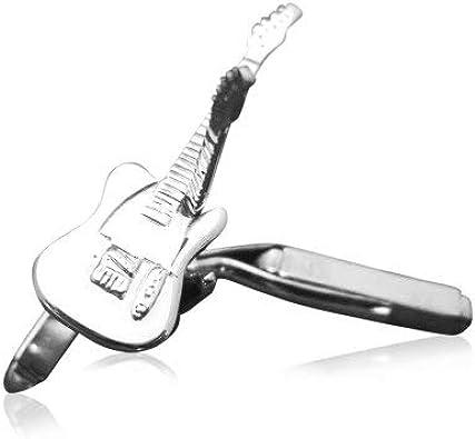 Anillo de los hombres de plata de ley mancuernas de la guitarra ...