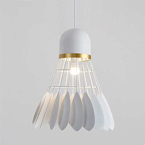 blanc Diam23cm Badminton Lustre Simple Moderne élégant Décoré de Pampilles Plafond Lampe pour Salon Chambre Couloir Salle,blanc,Diam23cm