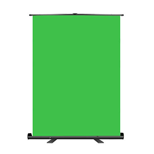 Neewer 152x197cm Green Screen Green Backdrop, Portable Collapsible Chromakey Background, Pull-up Style with Auto-Locking Frame, Solid Aluminium Base for Photo Video, Live Game, Tiktok Video