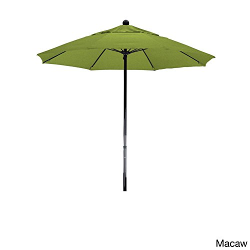 Sunbrella Macaw (California Umbrella 100% Fiberglass Frame, Push Lift, Black Pole, Sunbrella Macaw Umbrella, 7.5' Round)